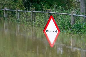 flooding closes a417 near gloucester with flood warnings in place along river severn to tewkesbury