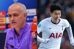 jose mourinho jokes about signing potential son heung-min replacement after injury blow
