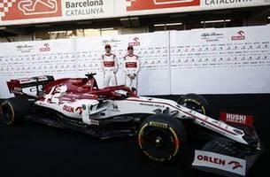 alfa romeo, haas unveil cars before start of f1 preseason