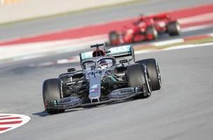 hamilton, bottas clock fastest time as f1 testing starts