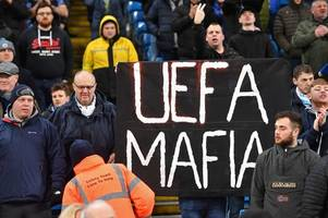 Man City fans protest FFP punishment with banners at Etihad Stadium vs West Ham