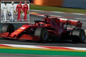sebastian vettel's ferrari absence explained as lewis hamilton joins f1 drivers for testing