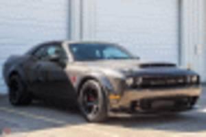 carbon fiber-bodied speedkore dodge demon is for sale at $170,000