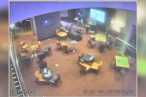 shocking cctv footage shows thug attacking defenceless victim in casino
