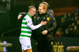 neil lennon gives leigh griffiths celtic injury verdict as he insists it won't affect europa league plans