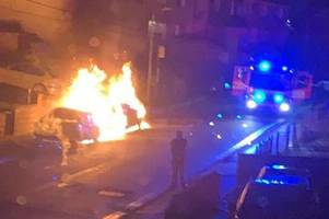 cars set on fire in suspected early morning arson attack in blackwood
