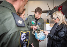 Fighter pilot's helmet given to his family 36 years after his death