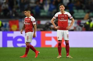 mesut ozil and lucas torreira's arsenal omissions explained for olympiakos tie
