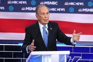 bloomberg debate video would violate twitter's deepfake policy, but not facebook's