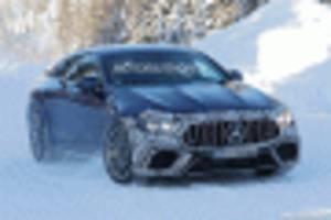 2021 mercedes-amg gt 73 eq performance 4-door coupe spy shots