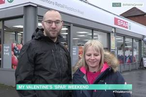 boyfriend promises girlfriend spa weekend for valentine's day - and takes her on tour of spar shops