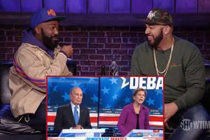 desus and mero crack up watching warren and bloomberg at nevada democratic debate (video)