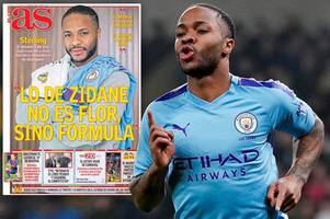 raheem sterling pictured with real madrid shirt as he makes man city transfer admission