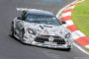 2021 mercedes-amg gt black series spy shots and video