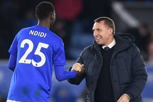 brendan rodgers defends leicester city call over injured wilfred ndidi
