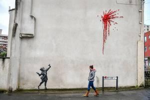 banksy 'glad' valentine's day mural in bristol has vanished