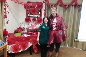 elderly enjoy a happy valentine's day at tyspane care centre