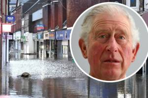 prince charles comes face-to-face with flooding victims in pontypridd