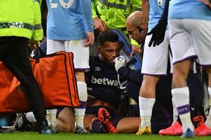 big injury blow for west ham defender ryan fredericks as david moyes counts cost of man city loss