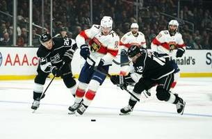 panthers unable to sweep in california, fall to kings on thursday