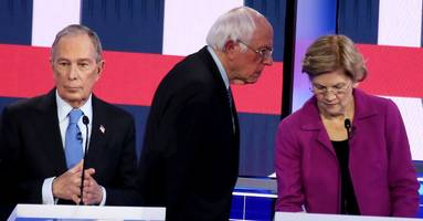 bloomberg net favorability craters 20 points in post-debate poll, bernie and warren gain support