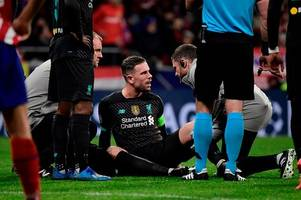 jordan henderson injury latest as liverpool star looks to recover from hamstring problem