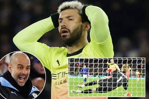 man city boss pep guardiola makes penalty promise after sergio aguero miss vs leicester