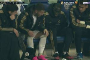 Real Madrid fans slam Eden Hazard as star limps off injured during Levante defeat