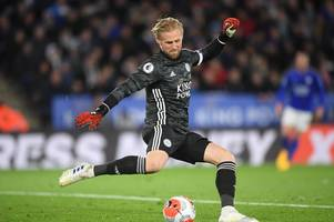 leicester city player ratings: kasper schmeichel inspired as jamie vardy struggles vs man city