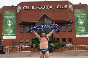 speedo mick reaches land's end finish line as mammoth uk charity trek nets £320,000