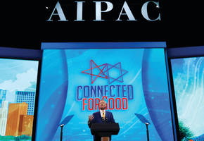 a strange place for aipac: the left of a peace plan