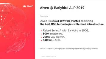 finnish startup aiven used these slides to raise $50 million for a cloud platform that helps businesses manage open source projects
