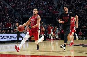 unlv ends no. 4 san diego state's perfect season with 66-63 road win