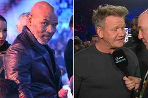 Wilder vs Fury: Mike Tyson and Gordon Ramsay among celebs ringside for fight