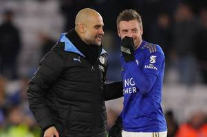 pep guardiola corners jamie vardy and dennis praet's hug of relief – moments you may have missed