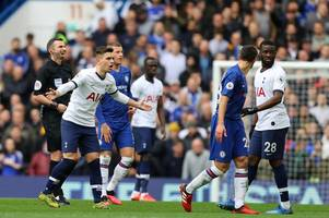 cesar azpilicueta's chat with giovani lo celso and dele alli's frustration at the tottenham ace
