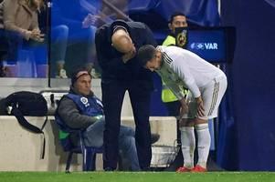 former chelsea man eden hazard handed injury blow at real madrid