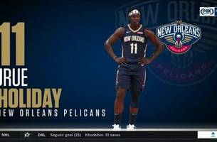 watch: jrue holiday handles his business, leads pels over warriors