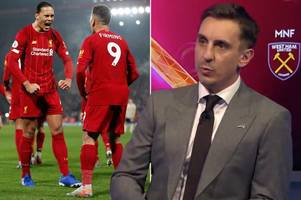Gary Neville explains why Liverpool are still 'guarded' despite Premier League dominance