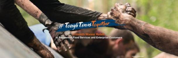 #toughtimestogether hkbn offers 1-month waiver relief worth over hk$100m to all residential fixed services and enterprise customers