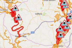 monmouth, ross and communities along the wye warned to stay on guard as river levels start to rise again