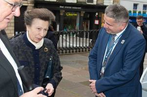 why princess anne, wera hobhouse and jacob rees-mogg met in bath today