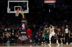 The Los Angeles Lakers showed growth in their win over the rival Boston Celtics