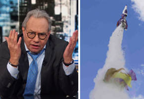 lewis black predicted flat-earther mad mike hughes' death two years ago