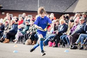 pupils flip with excitement at pancake day races