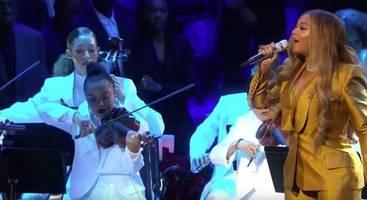 watch beyonce, alicia keys perform at kobe bryant tribute