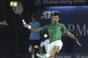 Top-ranked Djokovic, Tsitsipas reach Dubai quarterfinals