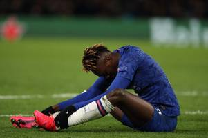 tammy abraham injury concern emerges with chelsea warm down video after bayern loss