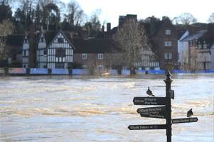 Residents evacuated as Bewdley flood defences breached - with more rain on the way