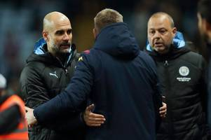 dean smith sends message to pep guardiola ahead of aston villa vs manchester city